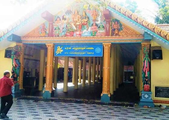 pilgrims in trivandrum, hanuman temple, trivandrum temple