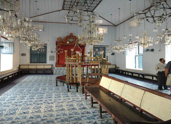 pilgrims in ernakulam, paradesi synagogue