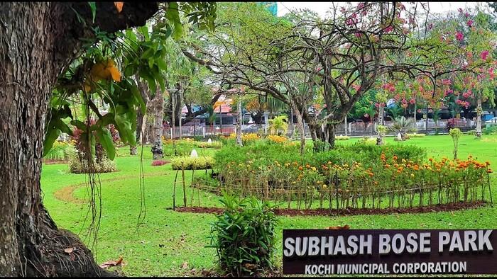 parks in ernakulam, subhash bose park