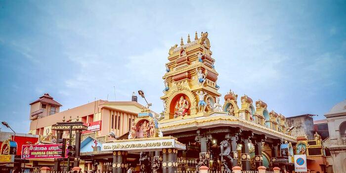 pilgrims in trivandrum, pazhavangadi temple