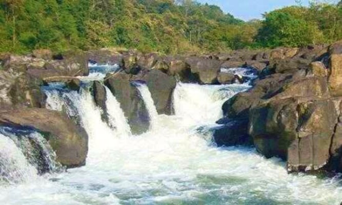Backwater and waterfalls in Pathanamthitta