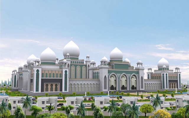 pilgrims in kozhikode, shahre mubarak grand masjid